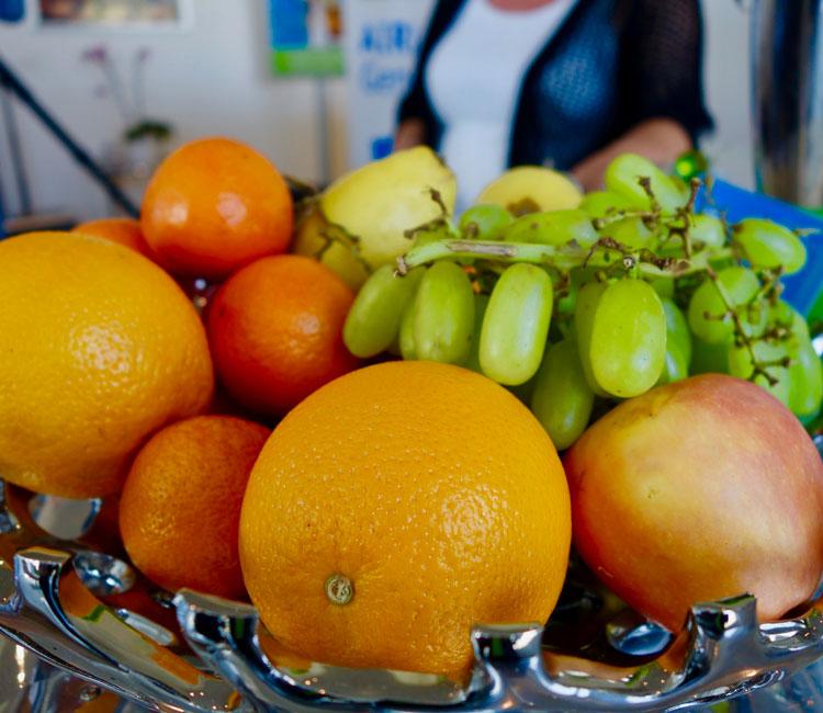 Hotel-Empfang-Obstkorb