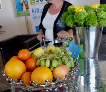 Hotel Empfang Obstkorb